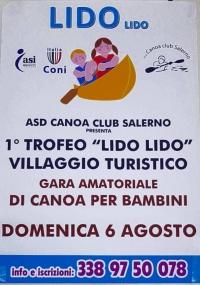 Domenica 6 Agosto gara amatoriale di canoa per bambini
