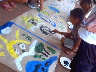 Laboratori Ygramul con i bambini Guarani