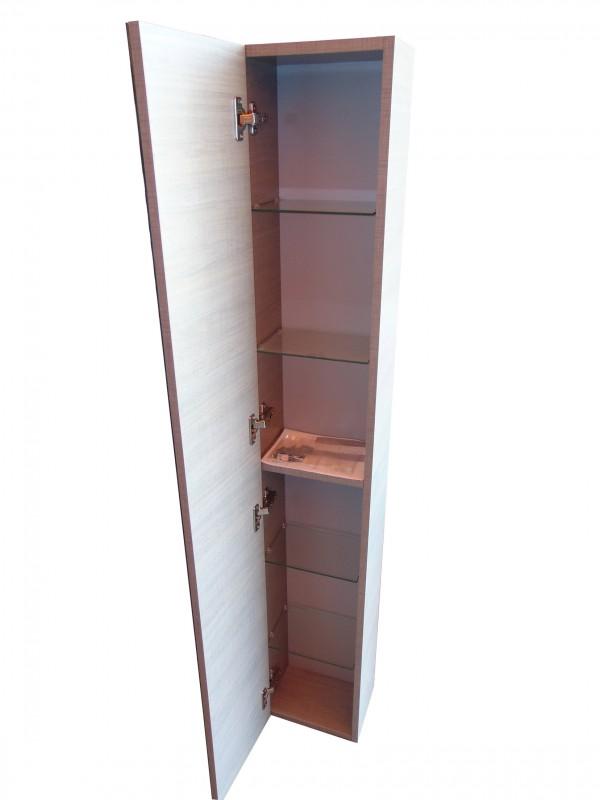 Mobile bagno base cassettiera colonna 1 anta con mensole - Mensole bagno in vetro ...