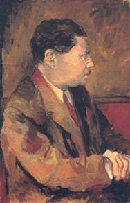 Renato Guttuso - Ritratto di Montale