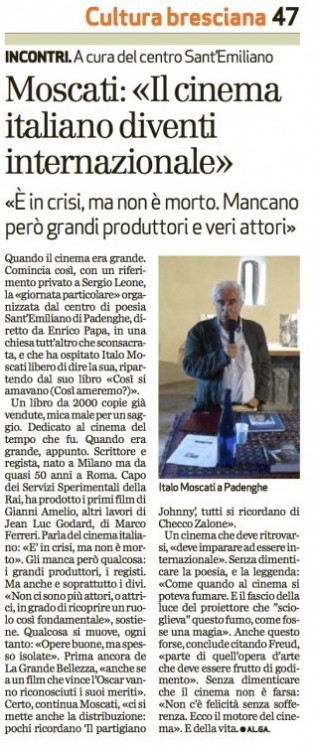 Italo Moscati al Centro di Poesia Sant'Emiliano