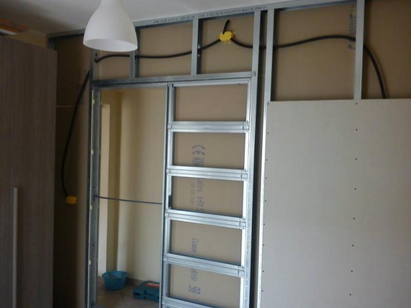 Parete In Cartongesso Con Porta A Battente: Porta in vetro acidato unika scor...