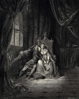 """G. Dorè: """"Quel giorno più non vi leggemmo avante"""" 1861."""