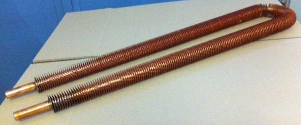 Tubi alettati e batterie for Tubo di rame a pex